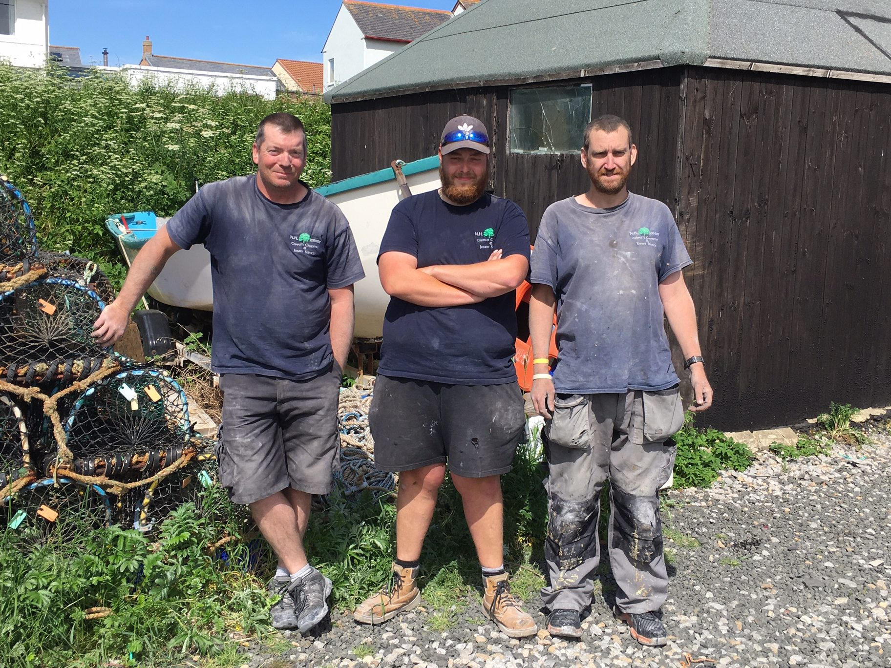 These Beadnell coble fishermen's sons and grandsons now work for the local joiner, 2021