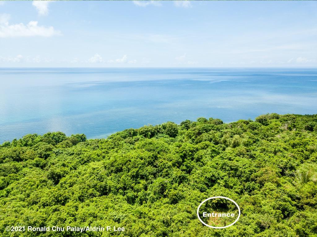 Aerial view of napuro on Cuyo Island